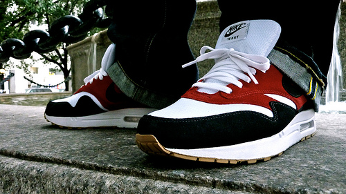 "wholesale dealer c04f2 c9972 This past week the Nike Air Max 1 ""West – Red"" ..."