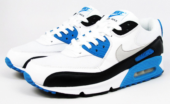 "Arbitraje simpatía País  Available: Nike Air Max 90 ""Laser Blue"" Retro – 2010   Vagrant Sneaker"