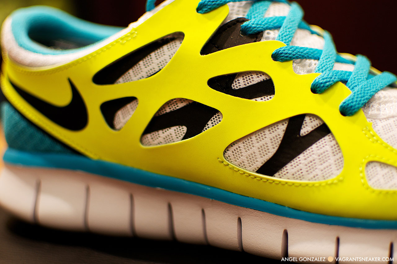 Nike Free Run 2 Blue Yellow White