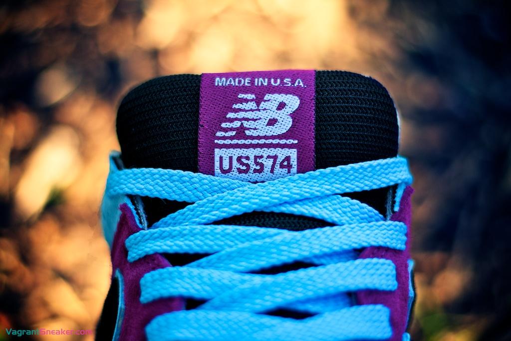 "triángulo mini Línea de metal  Customizer: New Balance US574M1 Custom ""Quatro Azules""   Vagrant Sneaker"