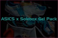 Sneek Peek: ASICS x Solebox Gel Pack
