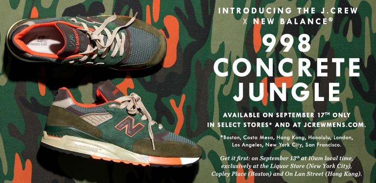 new balance j crew concrete jungle 998