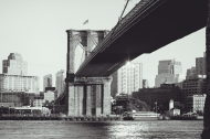 Through The Viewfinder: Brooklyn Bridge From Manhattan Side
