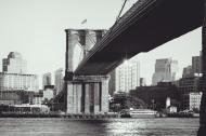 Through The Viewfinder: Brooklyn Bridge From ManhattanSide